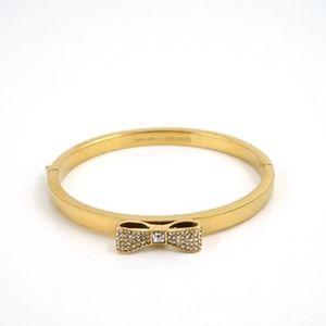 NWT Kate Spade Pave Bow Bangle Bracelet